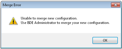 Unable to merge new configuration